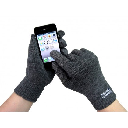 Charcoal Touchscreen Gloves