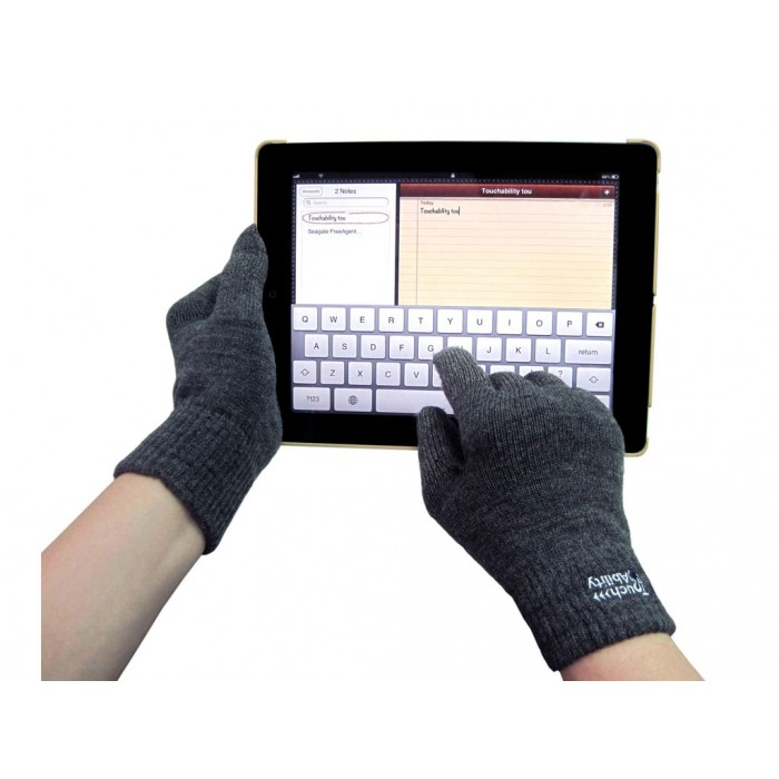 Nike Gloves Touch Screen: Charcoal Touchscreen Gloves
