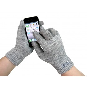 Grey Touchscreen Gloves